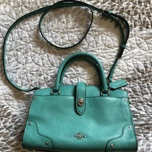 Coach Turquoise Leather Bag
